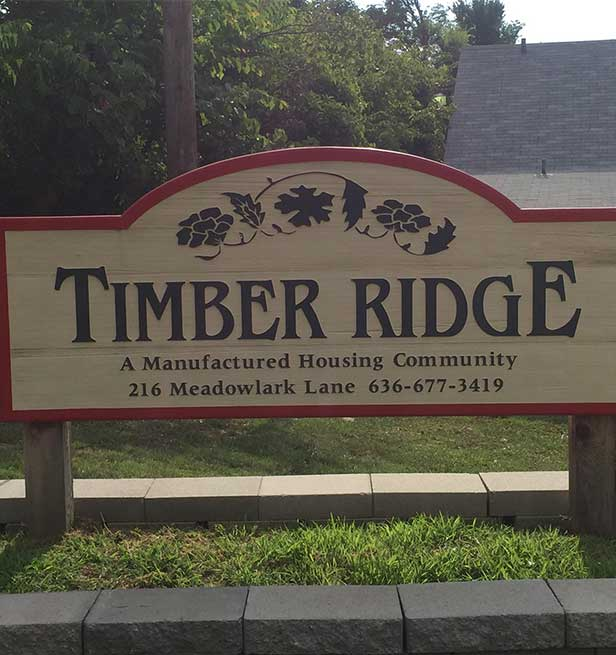 Timber Board Sign